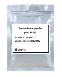 Fenbendazol 50g-500g Pure Powder >99% De-wormer Helmintazole Panacur