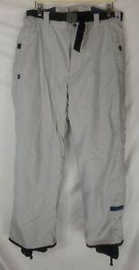"Columbia Convert Ski Snow Snowboard Pants Beige Men's Large 35"" Waist"
