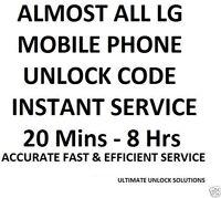 Unlock code LG L70 MS323 L9 MS769 F6 MS500 F3 MS659 F60 MS395 MS450 MetroPCS