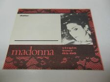 1985 MADONNA CONCERT BACKSTAGE PASS VIRGIN TOUR UNUSED NORTH AMERICAN TOUR RARE