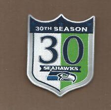 3 1/4 X 4 Inch Seattle Seahawks 30 Seasons Iron on Patch