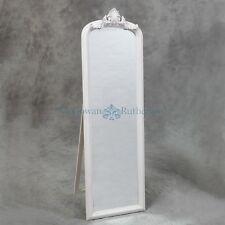 White Floor Standing Mirror / Freestanding Mirror / Cheval Mirror / Shabby Chic
