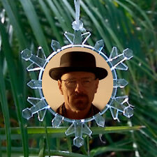 Breaking Bad Heisenberg meth flake Blinking Holiday Christmas Tree Ornament