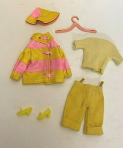 Vintage 1960's Mattel Barbie Francie Doll Mod Clone Version Clam Diggers Outfit