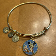 Disney Parks Alex And Ani Chip And Dale 2018 Shiny Gold Bangle Bracelet