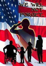 "New listing Custom Decor Patriotic We Will Not Forget Garden Flag 12"" x 18"" - 1993Fm"