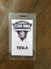 TESLA tour Laminate backstage pass Texxas World Music Festival 1987