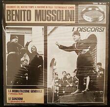 SIGNAL vinile LP I DISCORSI DI BENITO MUSSOLINI Testimonianze Sonore