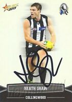 ✺Signed✺ 2013 COLLINGWOOD MAGPIES AFL Card HEATH SHAW