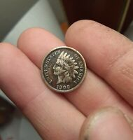 FINE 1908-S Indian Head Cent Penny KEY DATE