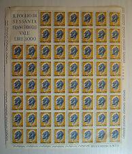 1972  ITALIA  50 lire   Leon Battista Alberti    foglio intero MNH**