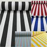 White Stripe Fabric Sofia black Stripes Curtain Upholstery Material -140cm wide