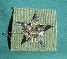 General Staff Officer Rank PATCH Collar Sew-On OD Green Material U.S. Army