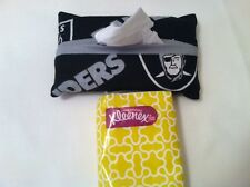 NFL Oakland Raiders Pocket/Travel Tissue Cover Handmade