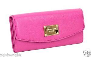 Michael Kors Wallet 35T3GJSE7L MK Slim Flap Wallet Fuschia Agsbeagle
