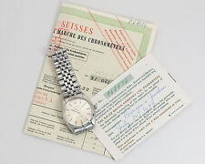 Rolex Vintage 1963 Steel Men's Oyster Perpetual 1003 w/ Guarantee & Timing Cert!