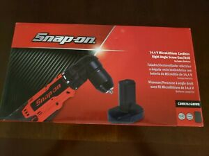 Snap On 14.4V MicroLithium Cordless Right Angle Drill with Battery   CDRR761