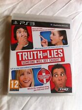 Truth Or Lies - 2010 lie detector game (New/sealed Sony PlayStation 3 - PAL)