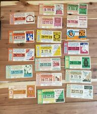 1930s and 1940s Rochester Transit Corp Trolly Pass Tickets Lot vintage