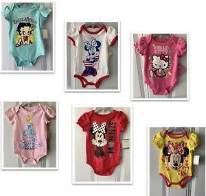 *NWT- DISNEY & OTHERS - BABY GIRL'S BODYSUIT SIZES: NEWBORN - 12M