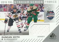 2016-17 SP Game Used Stadium Series Fabrics Duncan Keith Jersey Black Hawks