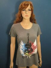 L gray NASHVILLE, TENNEESSEE COUNTRY GUITAR t-shirt by BELLA