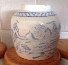 Chinois bleu blanc vintage/Antique Vase/ginger jar pas de couvercle