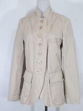 Colonial Stil Jacke comma, 36 Blazer beige Stehkragen Zierknöpfe /MH