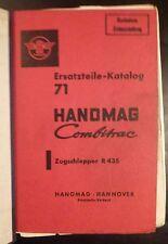 Hanomag Schlepper Combitrac R435 Ersatzteilkatalog