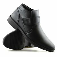 Mens Chelsea Dealer Smart Formal Casual Warm Lined Work Ankle Boots Shoes Size