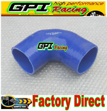 """Silicone 90 degree Elbow hose 3.5""""inch 89mm Turbo INTERCOOLER/radiator PIPE BLUE"""