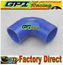 "Silicone 90 degree Elbow hose 3.5""inch 89mm Turbo INTERCOOLER/radiator PIPE BLU"