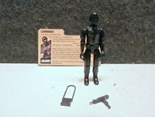 MINT 1982 HASBRO GI JOE SNAKE EYES STRAIGHT ARM ACTION FIGURE ACCESSORIES & CARD