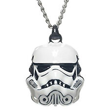 Authentic STAR WARS Storm Trooper 3D Head Mask Metal Necklace Pendant NEW