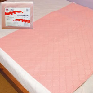 2x Omnitex Washable Bed Protector with Tucks - 90x90cm Incontinence Pad, 3 Litre