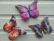 Garden Butterflies - Garden Wall Art Butterflies - Set of Three - New