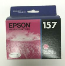 Epson 157 Vivid  Magenta Ink Cartridge T157320 Genuine New Sealed Box