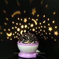 Rotation Night Star Moon Sky Starry Projector LED Light Lamp Kids Baby Bedroom