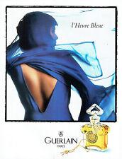 Publicité Advertising 117  1998    Guerlain  parfum l'Heure Bleue
