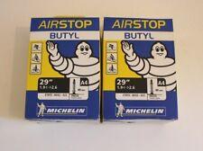 Lot 2 Chambre à air Vélo VTT Michelin 29 pouces Presta (Petite valve)