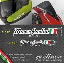 Set 10 Adesivi Stickers tuo Nome Casco Bici Moto Cupolino fondo bianco