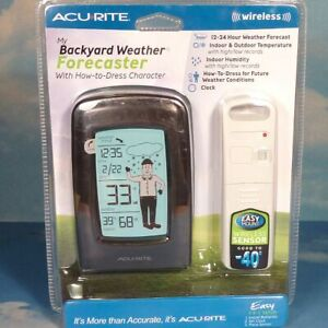 BRAND NEW ACURITE INDOOR OUTDOOR WIRELESS WEATHER FORECASTER / THERMOMETER * MIB