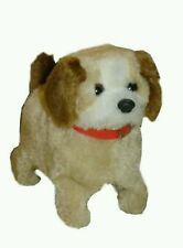 Cute Fuzzy Puppy Walking Jumping Pet Battery Operated Plush Toy For Boys Girls