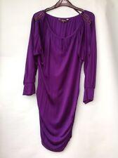Women's Star by Julien Macdonald Purple Oversized Slinky Top Size 16 New RRP £45