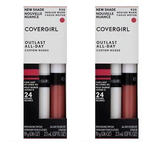2 -Pack Covergirl Outlast All-Day Custom Nudes Liquid lipstick, 930 Medium Warm
