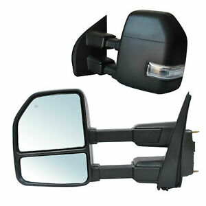 Towing Mirrors For 2017-2020 Ford F-250 Super Duty Power Heated LED Signal LH RH