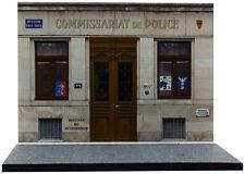 Diorama présentoir Commissariat de Police - 1/43ème - #43-2-A-A-097
