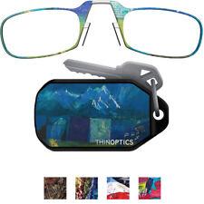 ThinOptics Armless Ultralight Reading Glasses with Designer Keychain Case