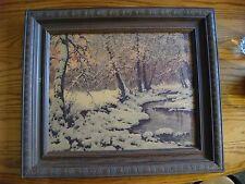 Vintage Winter Scene Print Robert Wood esqe