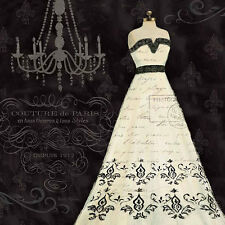 French Couture II Emily Adams Fashion Lady Ladies Dress Print Poster 18x18
